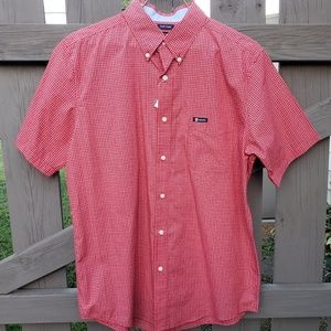 MENS New Chaps Size L Short Sleeve Button up Shirt